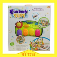 Wholesale Baby blanket baby gym carpet with keyboard toys and rattles multifuction education toys