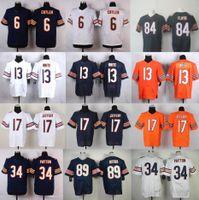 discount football jerseys - 2016 Discount Football Jerseys Brian Urlacher Kyle Long Walter Payton Hroniss Grasu wihie blue Elite Cheap embroidery Mix Order