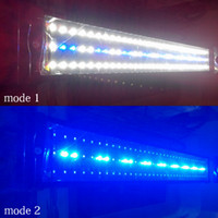 aquarium tank light - 73cm W LED Strip Aquarium Lights for Fish White Blue Aquarium Lights Reef Tank for Indoor Lighting Decorations