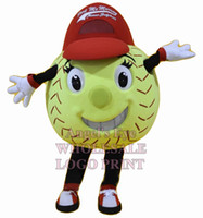 Wholesale softball mascot costume for adult high quality Tennis Ball Tenis Ball Baseball Softball Soft ball Baseball theme carnival fancy dress SW2851