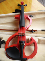 Wholesale High quality red color electric violin violin handcraft violino Musical Instruments violin Brazil Wood bow