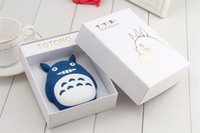 Wholesale Cute Cartoon TOTORO Power Bank mAh LED USB Charger External Battery for Cell Phones with Retail Package