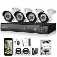 Wholesale A ZONE Stock in US Channel p AHD Security Cameras kit TB HDD W x HD MP waterproof Night vision CCTV surveillance Camera