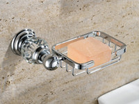 Wholesale Crystal Brass chrome Bathroom Accessories Soap Dishes Soap Holder Soap Case GY010