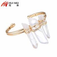 Wholesale 2016 New Arrival Luxury Women Wedding Bracelets Crystal Encircle Alloy Banges Bracelets U shape Fashion In Europea And America