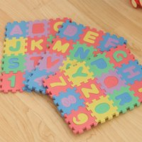 Wholesale 36pcs Unisex Mini Puzzle Kid Educational Toy Alphabet Letters Numeral Foam Mat