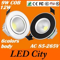 bedding world - 9W W Dimmable Led Downlights colors Body V World Transformer Nature Warm Cool White CREE Chip Beam Angle CE UL