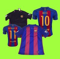 Wholesale Customized Thai Quality Barcel Jerseys Home Jersey Blue Away Football Shirt Purple and Orange ADRA PIQUE MESSI