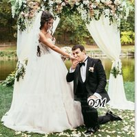 Wholesale Sweatheart Backless Wedding Gowns - Sequins Beaded 2016 Wedding Dresses Sweatheart Garden Wedding Dresses Sweep Train Embroidery Tulle Ball Gown Wedding Dresses Cheap