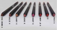 Wholesale Newest Kyliee jenner Velvetine Matte Lipstick Lip Pencil colors top quality DHL free Discount price