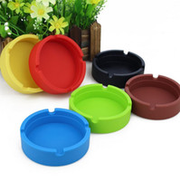 Wholesale Colorful Ashtray Heat resistant Silicone ashtrays for Home novelty crafts for cigarettes ash tray Smoking accessories gadgets