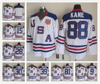 Wholesale 2010 Team USA Ice Hockey Jersey OLYMPIC Zach Parise Patrick Kane Phil Kessel Brian Rafalski Ryan Miller Jamie Langenbrunner Tim Thomas White