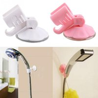 Wholesale Hot Sale New Cute Adjustable Attachable Bathroom Shower Head Holder Wall Suction Cup Bracket White Pink