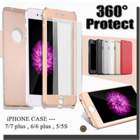 Wholesale Luxury Hard PC Degree Coverage With Tempered Glass Protective Case For iPhone S Plus inch S Samsung Galaxy S7 S6 MOQ