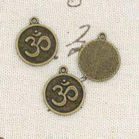 om pendant - 70pcs Charms yoga om mm Antique Making pendant fit Vintage Tibetan Bronze DIY bracelet necklace