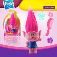Wholesale Trolls Doll Movie Figures PVC Dolls Comb Hair Length cm Poppy Branch Biggie DJ Suki Barbie Toys Christmas XL T136