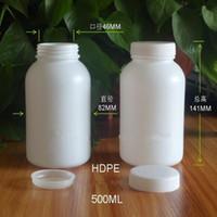 Plastic acid rounds - 500g cm cm HDPE plastic packaging bottles Big round bottles sample bottle with inner cap resistance to acid and alkali