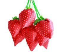 Wholesale Nylon Portable Creative Strawberry Foldable bag gift shopping Reusable Environmental Protection Pouch Eco Friendly Shopping Bags DHL Ship