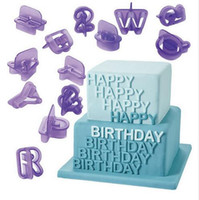 Wholesale Alphabet Numbers Mold Cookie Cutter Set Baking Fondant Cutter Biscuit Cutter Cake Letters Cutter fondant cake decoration tools free ship