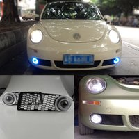 beetle auto parts - Auto parts x New High quality Superb COB Angel Eyes Halo Foglights Projector Lens For Volkswagen Beetle