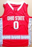 basketbal jerseys - D Angelo Russell ohio state college basketbal jerseys red white or customize Any number Men s Stitched Jersey