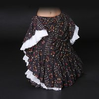 ats skirts - New Arrivals ATS Tribal Belly Dance Skirt Printed Cotton Spanish Flamenco Dress Full Circle Wide Meters Gypsy Skirts Womens
