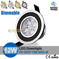 Wholesale DHL Dimmable Led ceiling lamp W W Led Bulb V LED spot down lighting indoor spot light downlight spotlight with led driver