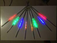 ac cm - 8pcs set Christmas light Snowfall LED Strips Christmas Rain tube cm Meteor Shower Rain LED Light tubes EU US Plug