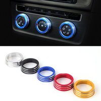 Wholesale 2016 New Car Styling Chromium SET Air Conditioning Heat Control Switch knob AC Knob Case For Volkswagen Golf HXY0158