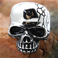 bad bands - 5pcs New Arrival Bad Brian Skull Ring L Stainless Steel Fashion Jewelry Men Boy Band Party Biker Ghost Skull Ring