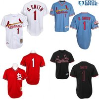 anti clock - Blue red white Ozzie Smith Authentic Jersey Men s St Louis Cardinals Turn Back The Clock