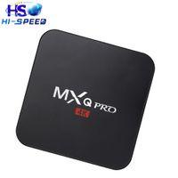 Wholesale 20pcs MXQ Pro android OTT TV Box Amlogic S905 Quad Core GB GB WIFI K HDMI H Kodi Pre installed smart media player