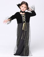 beauty trade shows - Children s Wear Halloween Party Cosplay witch dress skirt Children s Show Dance Dress Europe foreign trade New Hot Style