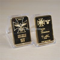 berlin plate - 24K GOLD PLATED german SIGNATURE BAR BERLIN IRON CROSS gold bullion GERMAN EAGLE bullion coin pc