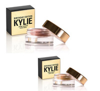 Wholesale new Arrival Kylie Jenner makeup birthday eyeshadow eyebrow colors copper rose gold with dhl free
