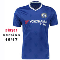 chelsea - 2017 Player Version Soccer Jersey Home Blue Chelsea Soccer Jerseys Hazard Oscar Diego Costa Thai Quality Football Jeresys