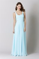 best free charts - Best Selling Sweetheart Long Chiffon Light Blue Bridesmaid Dresses Floor Length Bridesmaid foe Wedding