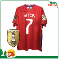 Wholesale 2016 Final American jersey red Chile jerseys Argentina VS Chile ALEXIS VIDAL MEDEL shirt