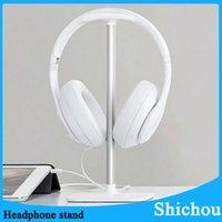 Wholesale New best headphone stand Universal Base Headphone Stand Headphone Display Rack Headset Hanger Earphone Holder Free dhl