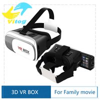 Wholesale 2016 cardboard VR BOX II Version VR Virtual Reality D Glasses For inch Smartphone with Bluetooth Game Controller