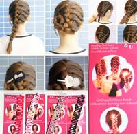DHL señora de las mujeres de las muchachas del trenzado del pelo de la herramienta Clip Rodillo con la torcedura del pelo mágico que labra la herramienta del fabricante del peluquero Moño fabricante del disco del pelo ZJ-T09