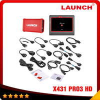 automotive diagnostic computers - New Professional Truck HD Diagnostic Tool Based On Android LAUNCH X431 PRO3 Heavy Duty Truck Diagnostic Computer Adatpers Box