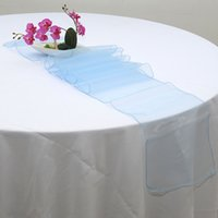 Wholesale 10 x inch Sheer Organza Table Runner Chair Sash Bows for Wedding Party Banquet Decoration