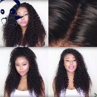 Wholesale Brazillian Hair Density Afro Kinky Curly Hair Full Lace Wigs For Black Women Natural Curly Front Lace Human Hair Wig