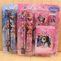 Wholesale 1pcs Children suit wallet pencil stationery stationery set children stationery portfolio of new prizes