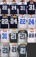Wholesale 2016 NIK Elite Football Stitched Cowboys Draft Ezekiel Elliott Smith Jones Claiborne White Blue Thanksgiving Jerseys