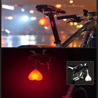 backpack led light - Cool Heart Shaped Bike Tail Light Silicone Hanging LED TailLight For Cycling Backpack Waterproof