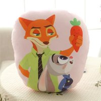 Wholesale Prettybaby Zootopia animal style Cartoon action movie Rabbit Judy Fox Nick model soft plush bolster