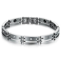 balance energy bars - ZHF JEWELRY Mens Magnet Bracelets L Stainless Steel Bangles New Healthy Balance Energy Magnetic Bracelet Jewelry GS3400