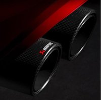 Wholesale Hot sell Classic Style Customizable Akrapovic Carbon Fiber Exhaust Tip Muffler End Pipes Car Cover For BMW VW Golf Mazda Accessories